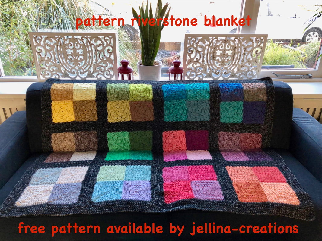 Riverstone blanket FREE crochet pattern by Jellina Creations