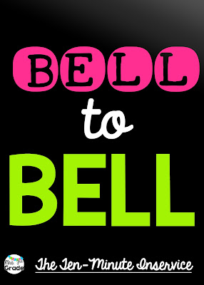 Teaching bell to bell is something that great teachers do!  We want to make sure that our students are engaged!!