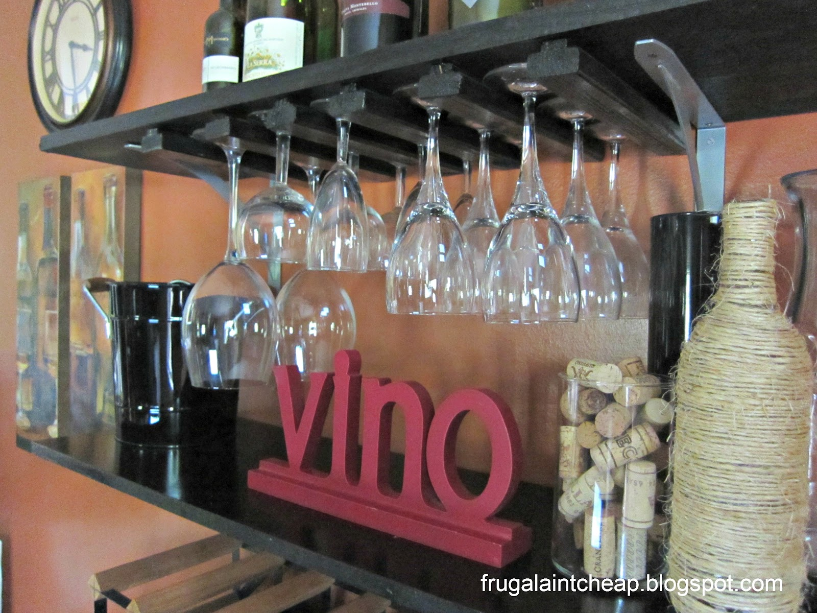 Diy Wine Storage Rack Frugal Ain 39t Cheap Diy Wine Glass Rack