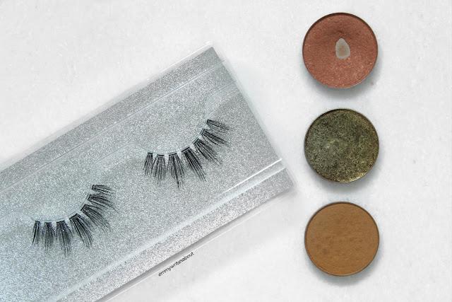 single eyeshadows, fluffy false eyelashes