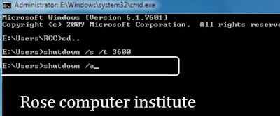 How to shutdown a computer with time
