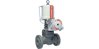 globe valve with actuator and positioner