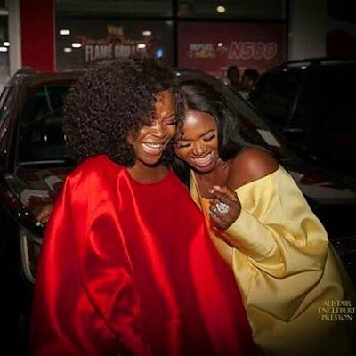 """""""Waje you can't leave me alone in the industry""""-Nigerian singer, Omawunmi drums support singer Waje"""