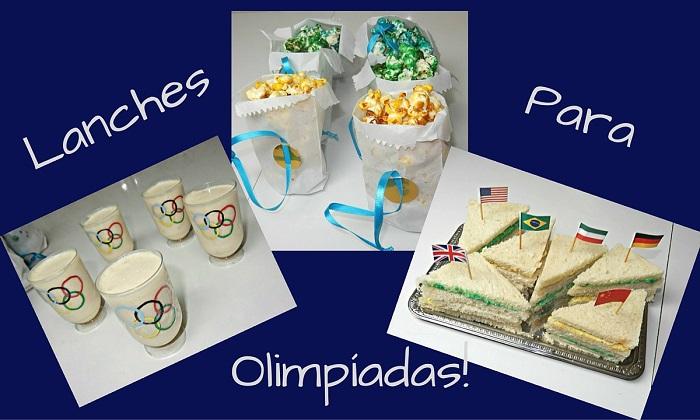comidinhas decoradas olimpíadas