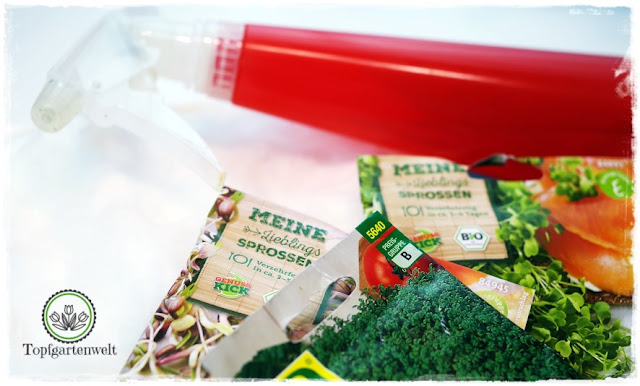 Gartenblog Topfgartenwelt Sprossen: verschiedenes Saatgut für die Anzucht von Keimlingen