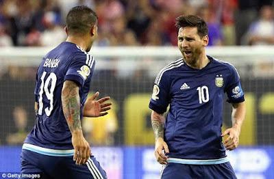 Argentina' defeat USA ,Messi breaks Batistuta'