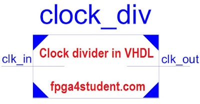 VHDL Code for Clock Divider on FPGA