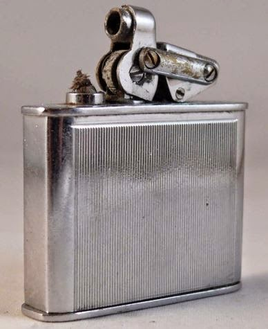 A silver lighter manufactured  by Karl Wieden - similar to  the one Josef had.  (From My Lighter website).
