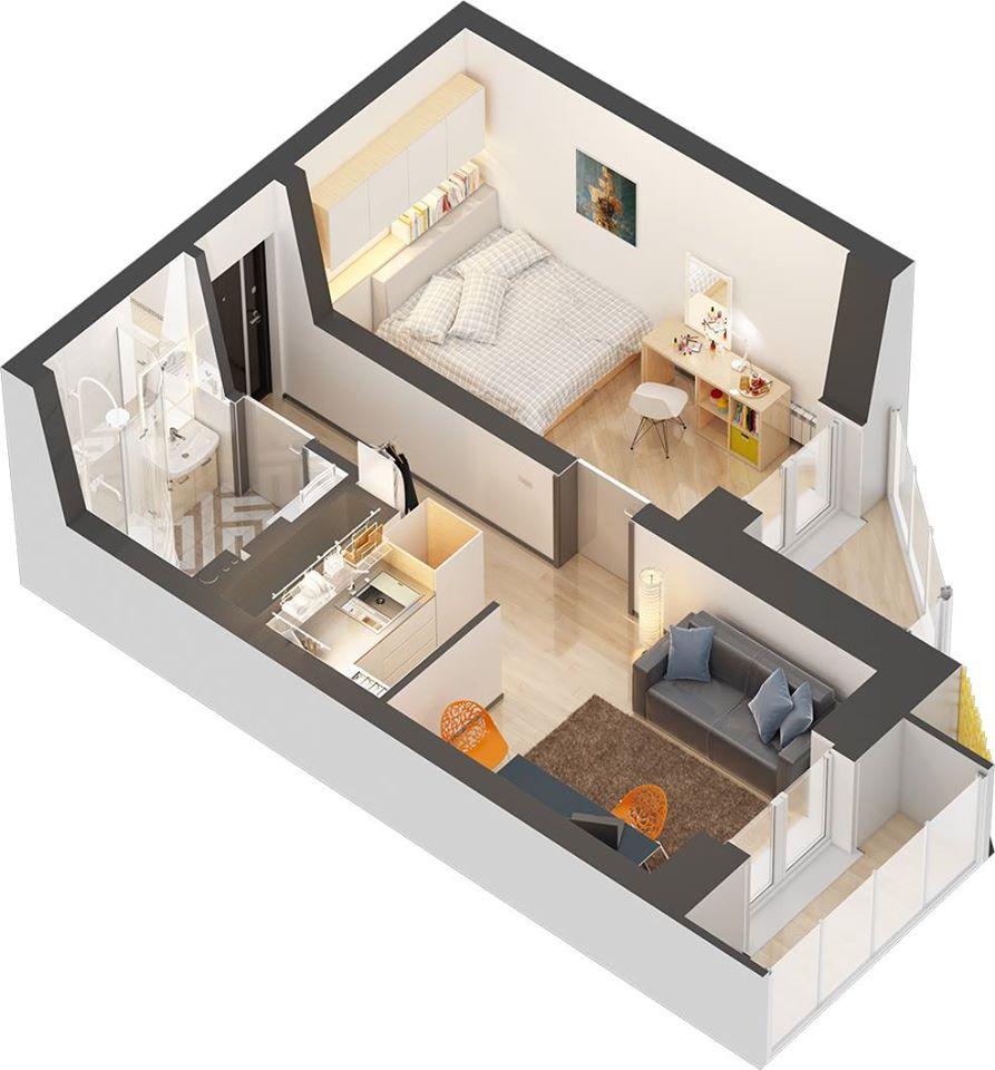 65 Denah Rumah Minimalis Type 21 3d | Typehom