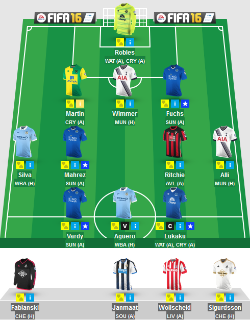The Blogger's Team for Gameweek 33 in Fantasy Premier League