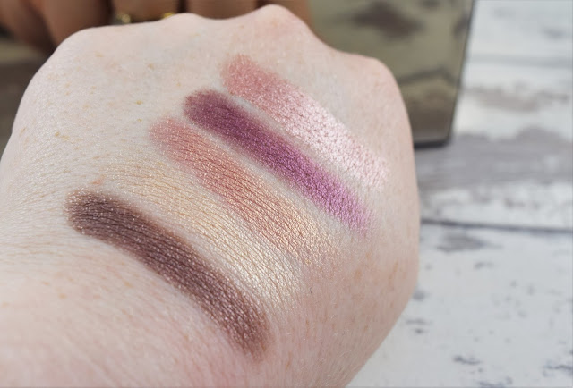 Elizabeth Arden Sunset Bronze Prismatic Eyeshadow Palette Swatches