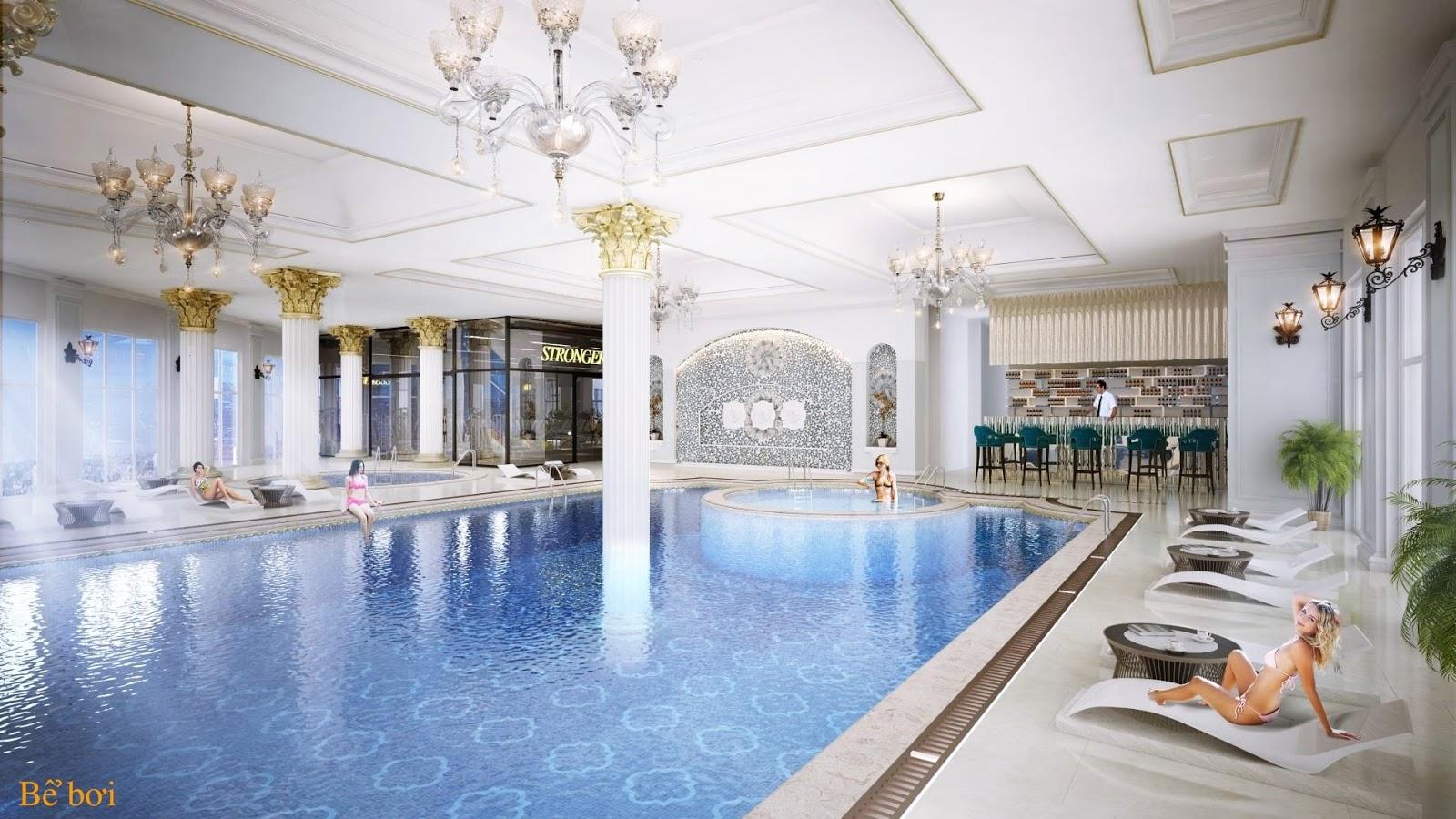 Bể bơi bốn mua chung cư Hateco Láng Thượng