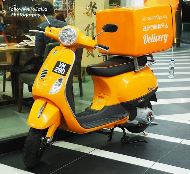 The Eye-Catching Canton2go Delivery Orange Bike
