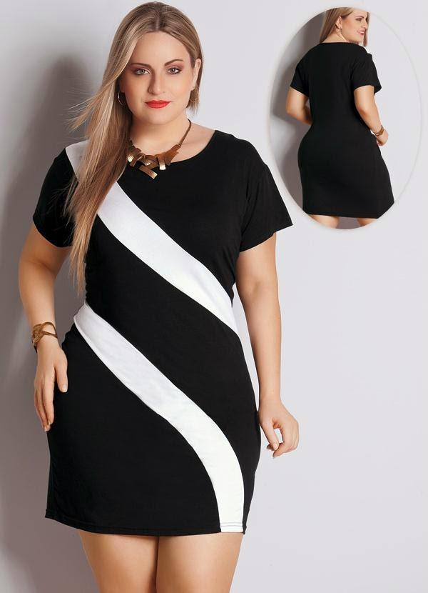 74f1579ede O Mundo da Léa  Moda Mulheres GG vestido preto e branco