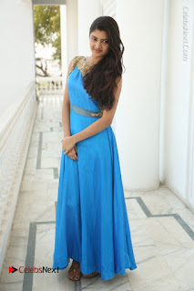 Telugu Actress Akshita (Pallavi Naidu) Latest Stills in Blue Long Dress at Inkenti Nuvve Cheppu Movie Promotions  0089.jpg