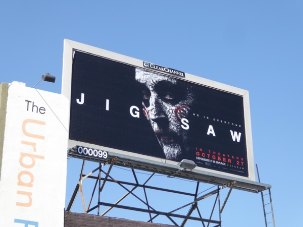 Jigsaw movie billboard
