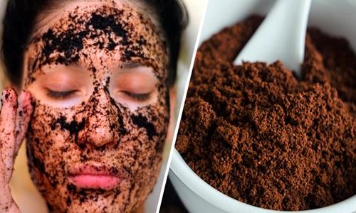 Pó de Café no Rosto para Esfoliar a Pele