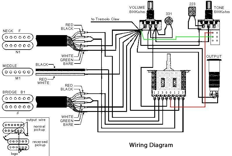 kramer guitar wiring diagram