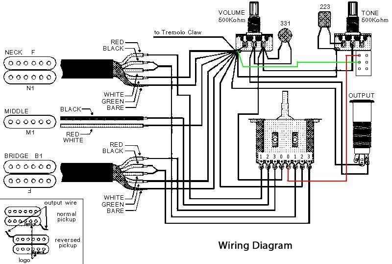 kramer single humbucker wiring diagram