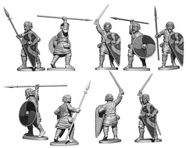 Wargame News and Terrain: Victrix: New Plastic Dark Ages Saxon