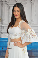 Telugu Actress Amyra Dastur Stills in White Skirt and Blouse at Anandi Indira Production LLP Production no 1 Opening  0104.JPG