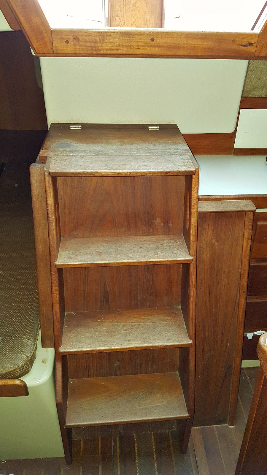 Sailboat Steps in Companionway