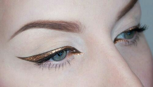 Daily Inspiration :: Gold Glitter Liner :: Cool Chic Style Fashion