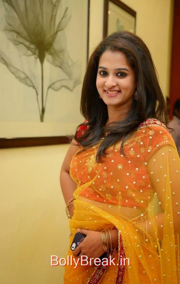 Nanditha Unseen Stills, Actress Nanditha Yellow Saree Navel pics in HD from Ram Leela Movie
