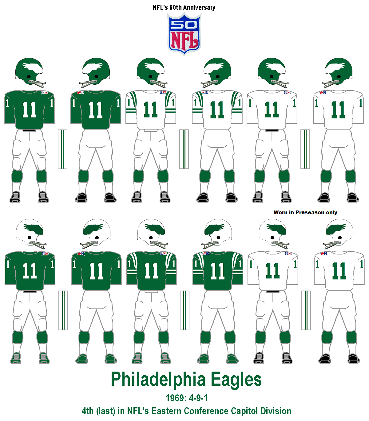 e06a8bee5bb Bill's Update Blog: 1960-69 Philadelphia Eagles