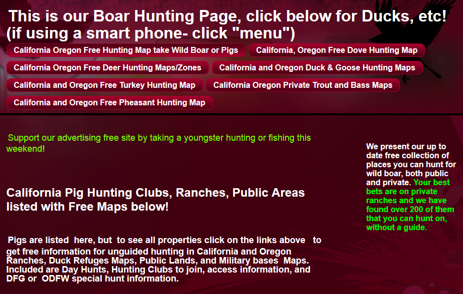 hunting and fishing public lands oregon and california