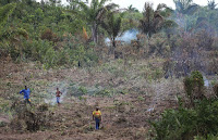 Farmers burn underbrush in a deforested section of the Amazon basin. (Credit: Mario Tama | Getty Images) Click to Enlarge.