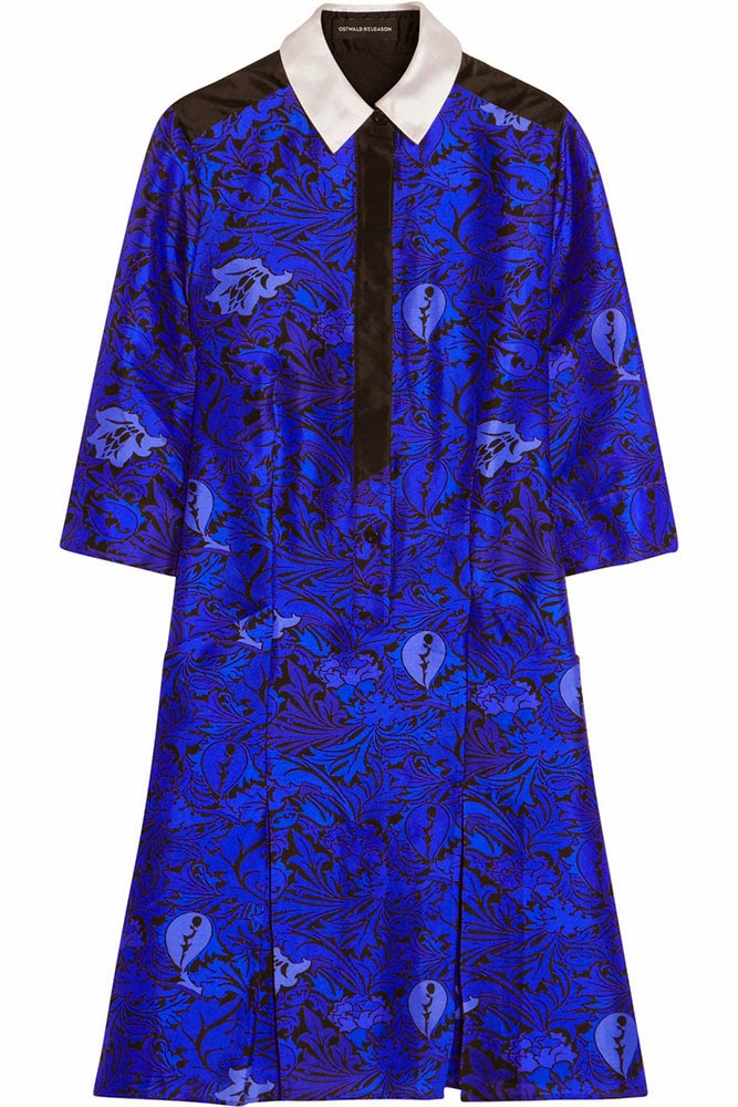 Ostwald Helgason printed silk shirtdress