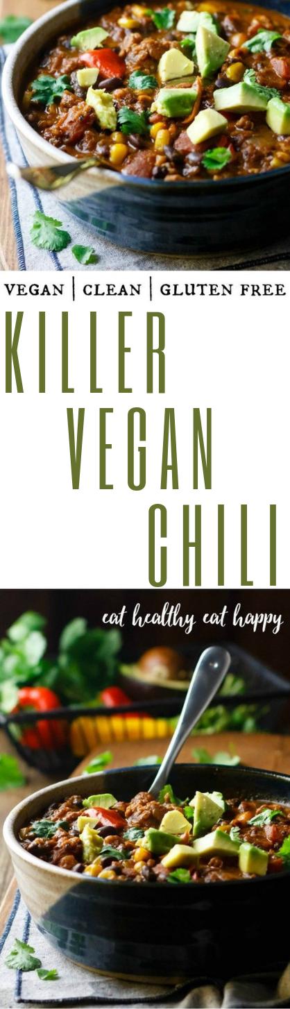 KILLER VEGAN CHILI #healthy #vegan