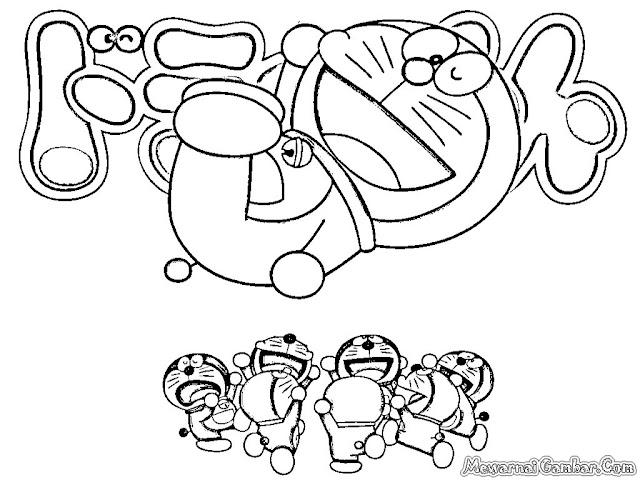 Mewarnai Gambar Kartun Doraemon