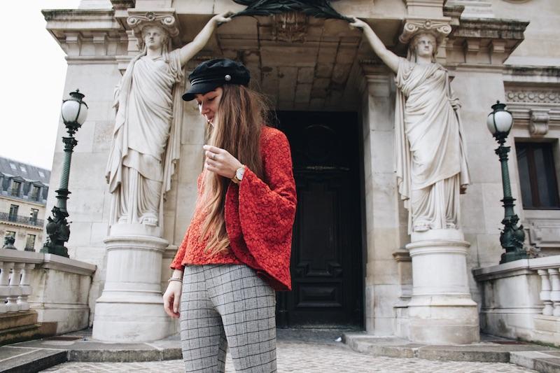 street style blog mode tendance prince de galle dentelle rouge paris marion trumier
