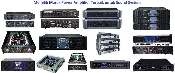 Power Amplifier Terbaik untuk Sound System Lapangan