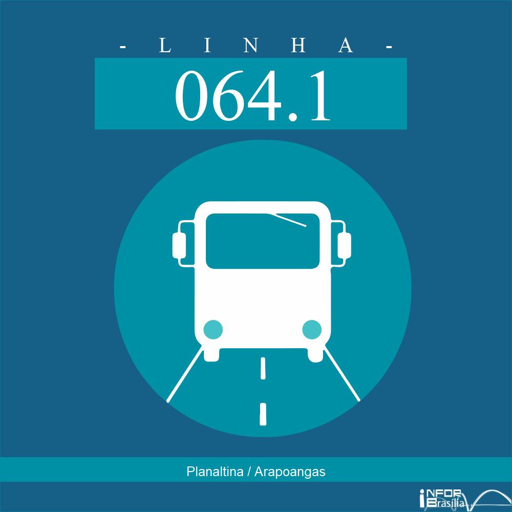 Horário de ônibus e itinerário 064.1 - Planaltina / Arapoangas