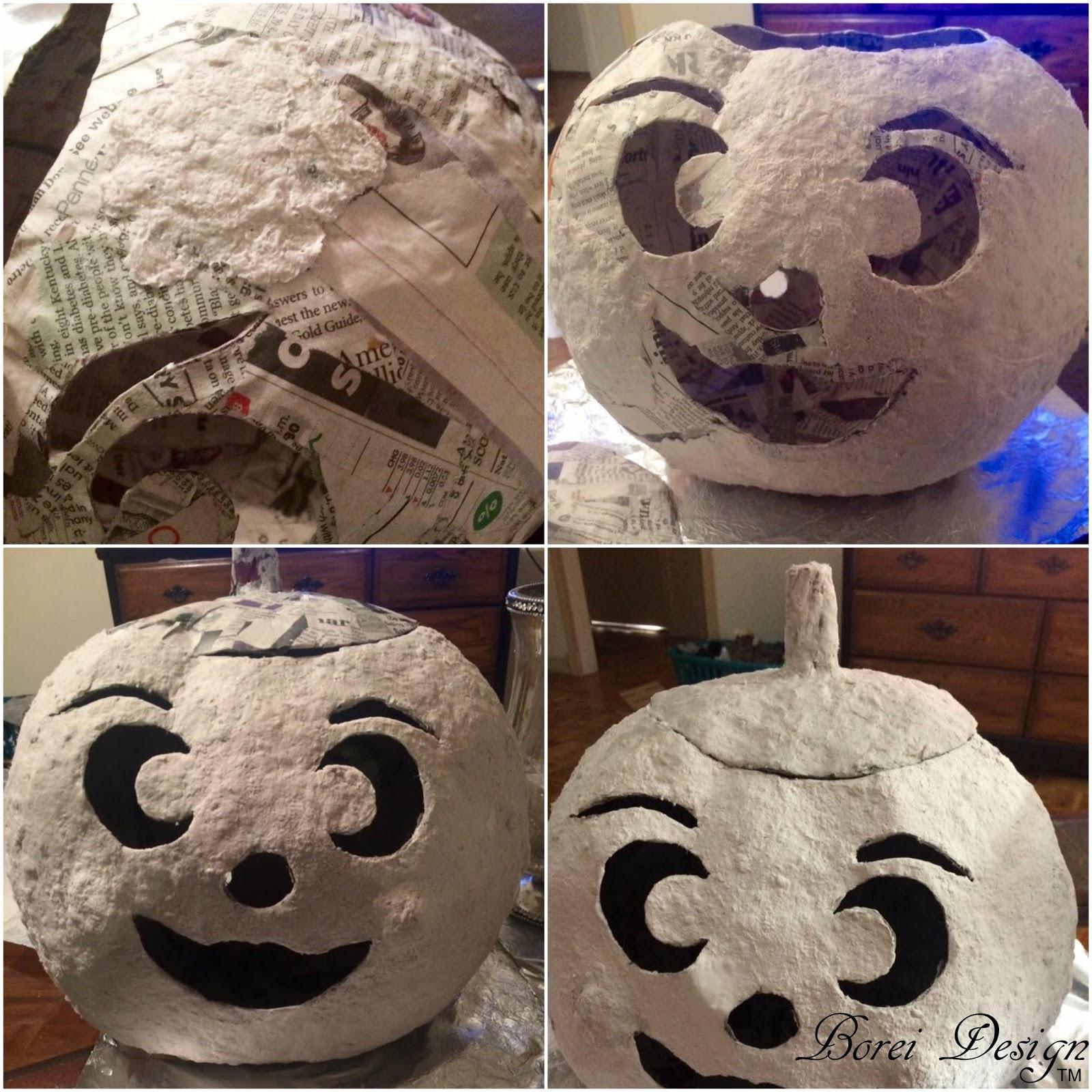 Diy craft tutorial how to make paper mache jack o lanterns