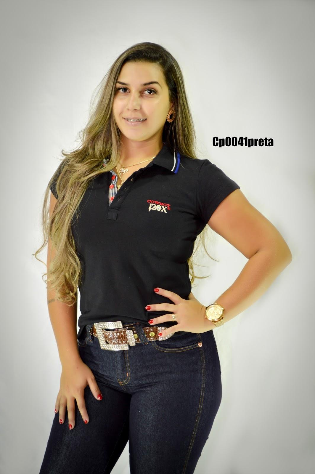 Cowboy 120x   Camisa Polo Feminina Cowboy 120x. 829810e0d9ee0