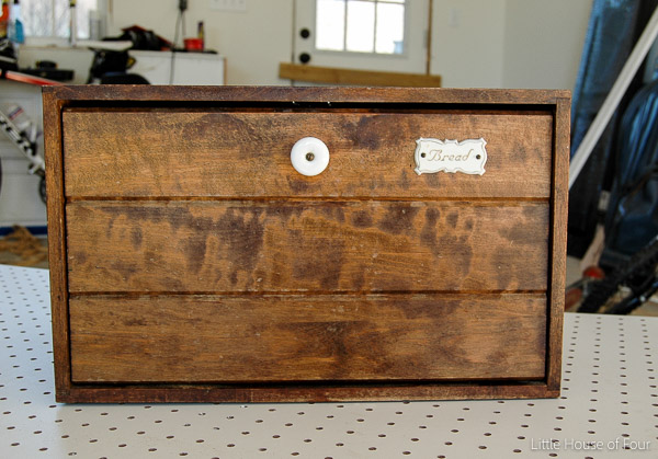 A $5.00 Goodwill Bread box gets a specimen cabinet inspired makeover.