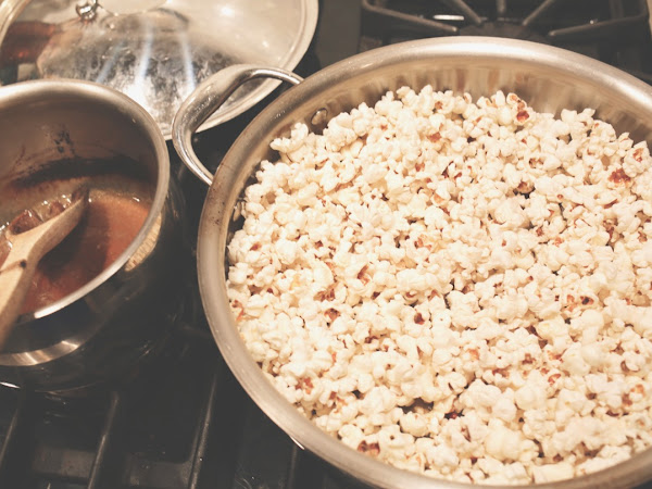 sweet and salty (healthier) homemade popcorn