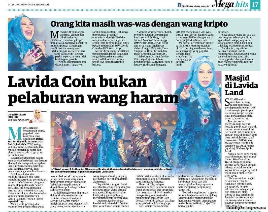 Lavida Coin Matawang Digital Milik Datuk Vida
