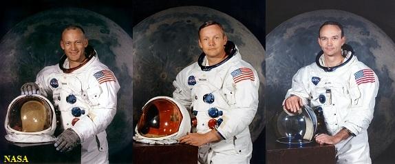 Buzz Aldrin, Neil Armstrong e Michael Collins