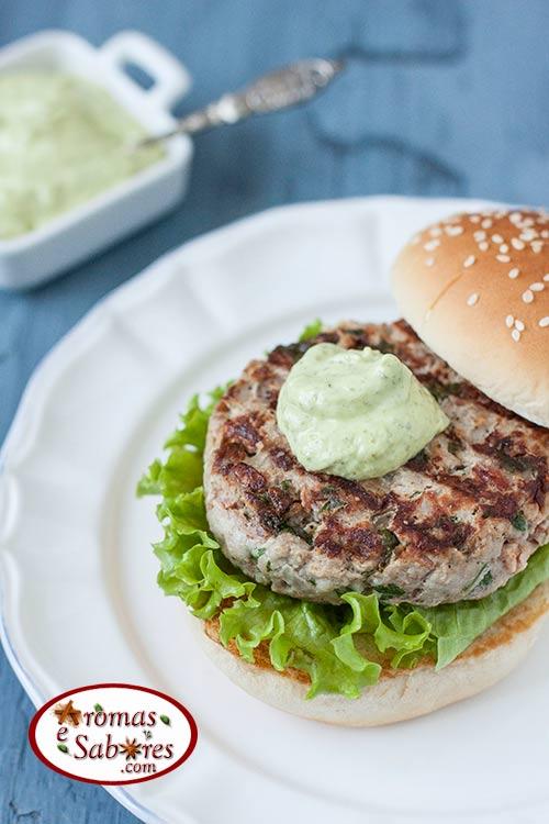 Hambúrguer de carne de porco