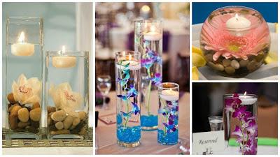 centros-mesa-velas-flores-flotantes