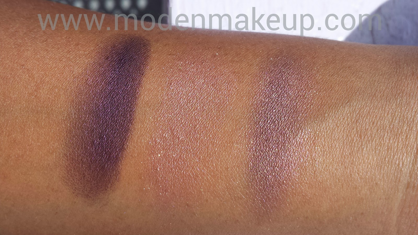 Laura Mercier 'Plum' and Milani 'Fusion' - www.modenmakeup.com