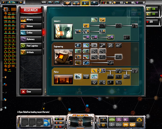 TEC Research Tree | Sins of a Solar Empire: Rebellion Screenshot