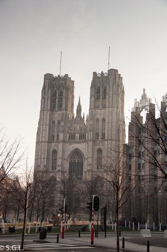 Vista de la catedral de Bruselas