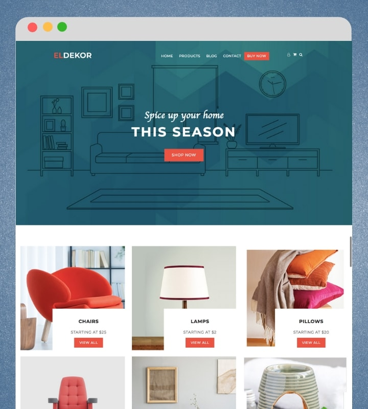 Eldekor (Furniture Store WooCommerce WordPress Theme)