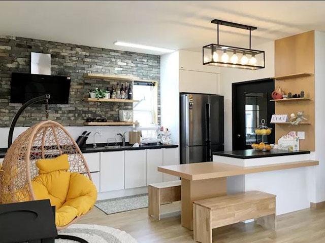 thiết kế nhà bếp 12m2